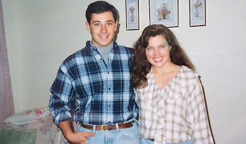 Jairo and Barbara during their undergraduate years