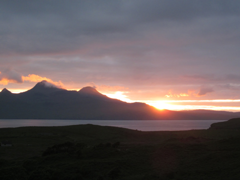 Sunset on the Isle of Eigg. Photo by Sara Sands