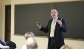 Dean Robert Frank leads Data Summit for College of Arts & Sciences.