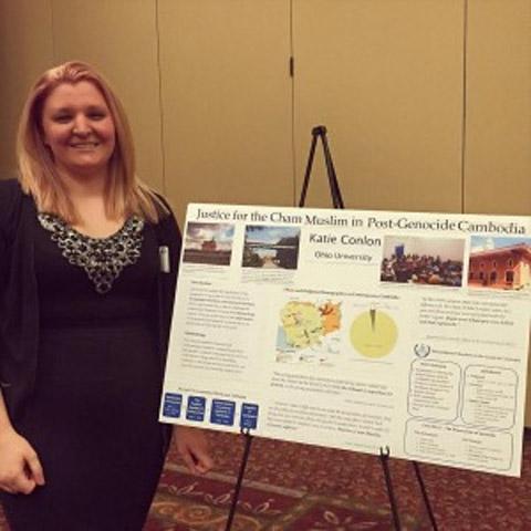 CLJC student Katie Conlon presented her research on the Cham Muslim minority in Cambodia.