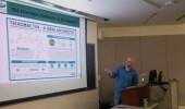 Dr. Ronan Carroll talks to Anthropology class about MRSA.