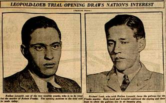 Newspaper clipping on old trial