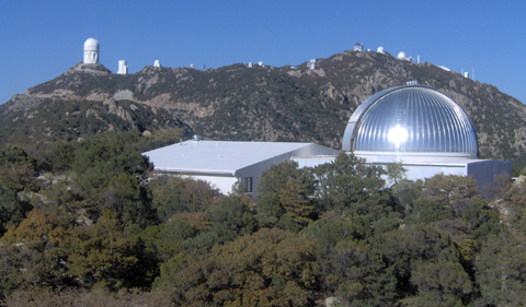 The MDM Astronomical Observatory in Arizona is owned and operated by a consortium of five educational institutions - Dartmouth College, The Ohio State University, Columbia University, The University of Michigan and Ohio