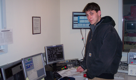 Jack Steiner at the MDM Observatory during his undergraduate days at OHIO
