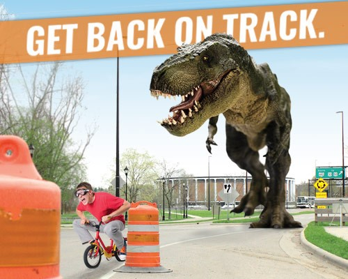 Get back on track summer graphic