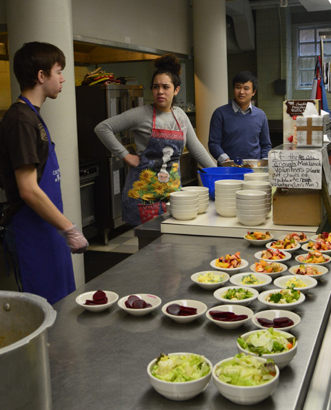 Students learn to prepare meals at United Methodist Church in Athens.