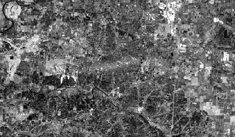 Thermal imagery of Joplin tornado path after three years
