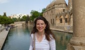 Dr. Jaclyn Maxwell at Blue Mosque in Istanbul