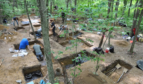 Anthropology students dig up Ohio's past at a site in Wayne National Forest.