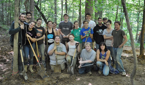 Field School of Ohio Archaeology group shot in Summer 2015