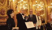 Dr. Tadeusz Malinski receives the Grand Gold Medal by the Society of Arts-Sciences-Letters in Paris.