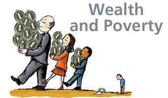Welath and Poverty theme logo