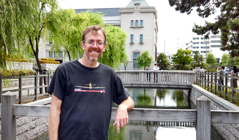 Dr. Charlie Morgan in Japan in 2014.