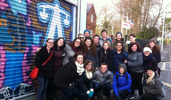 Spring 2015 students on Shankill Road in Northern Ireland.