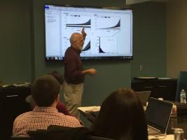 Dr. Jeffrey Vancouver lectures to workshop participants on system dynamics.