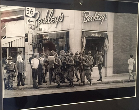 1970 student protest in front of Beckley's