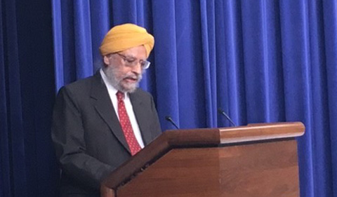 Dr. Amrit Singh gives keynote at White House celebration of Guru Nanak's birth-anniversary.