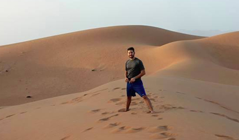 Jamie Moriarity in Oman.