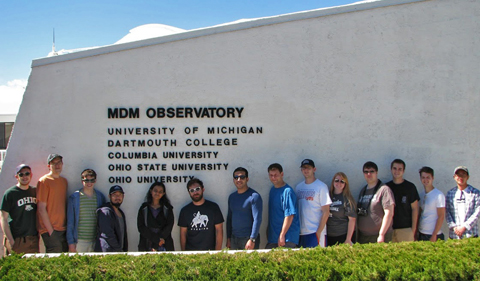 Astronomy class visit to MDM Fall 2015