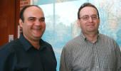 Doctoral student Larousse Khosravi Korashad and Dr. Alexander Govorov