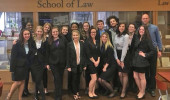 Both Ohio University teams after the Awards Ceremony at Pittsburgh School of Law, Pennsylvania.