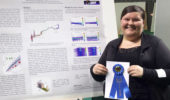 Andrea Richard at the 2015 Student Research & Creative Activities Expo
