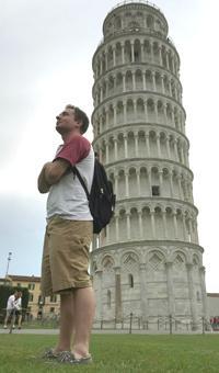 Max Camp at the Tower of Pisa