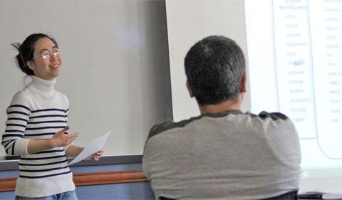 Dr. Qian Du, instructor of ET 6020 — Photo by Bailey Kretz
