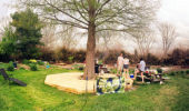 Spring 2016 potluck at the Learning Garden