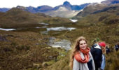 Grace Pauley at the at El Cajas National Park outside Cuenca, Ecuador
