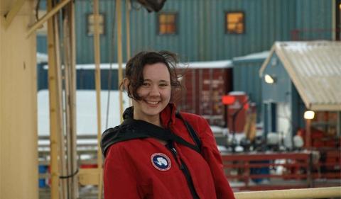 Graduate Student Amanda Biederman at Palmer Station (Antarctica)