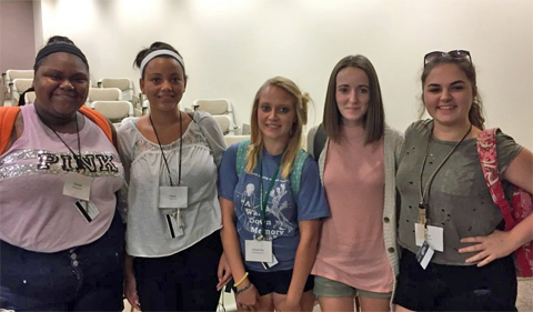 SLTI Students (left to right): Camiah Barnett (Zanesville, OH), Teara Hill (Zanesville, OH), Alexandria Johnson (Vincent, OH), Raylin Fetherolf (Athens, OH), and Lori Smith (Jackson, OH)
