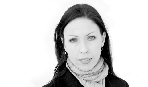 Black and white headshot of Michelle Pretorius