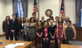 Students of OHIO's Summer Law and Trial Institute with Judge McCarthy