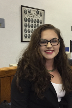 Summer Law and Trial Institute student Lori Smith, 17, of Jackson, Ohio