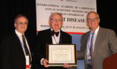 Dr. Tadeusz  Malinski with Dr. Asher Kimchi and Dr. Jeffrey Borer