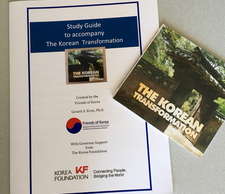 Study Guide for the Korean Transformation DVD booklet and DVD