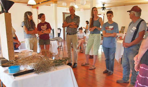 Dr. Art Trese facilitates conversation about seed saving