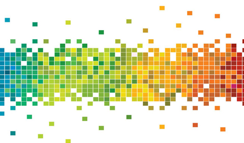 WGSS alumni reunion graphic with rainbow colors in dot pattern