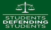 Students Defending Students, whose logo is feature above, is an organization in which student volunteers advise others undergoing the process of Ohio University Community Standards.