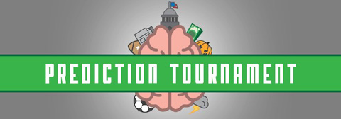 Prediction tournament graphic with brain