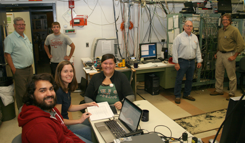 Researchers in Edwards Accelerator Control Room