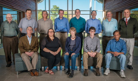 INPP members include: (front row L to R) Kenneth Hicks, Julie Roche, Charlotte Elster, Zach Meisel, Madappa Prakash; (back row L to R) Steven Grimes, Alexander Voinov, Carl Brune, Daniel Phillips, Justin Frantz, Paul King, Tom Massey, and David Ingram