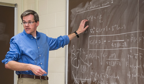 In the classroom Phillips teaches undergraduate and graduate courses ranging from introductory physics to advanced quantum theory.