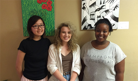 From left, Mae Yen Yap, Julia Cook, and Nkuli Shongwe