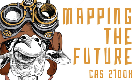 Mapping the Future CAS 2700H with camel cartoon wearing hat and goggles