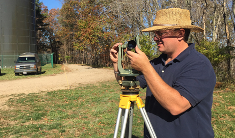 Myers with second theodolite