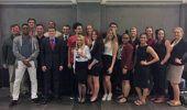 Ohio University Mock Trial Team after the Scarlet & Gray Invitational Tournament in October 2016.