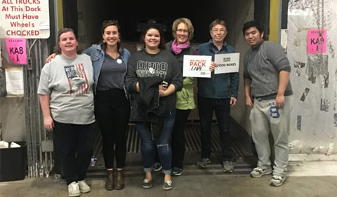 Facuty and students at SE Ohio Food Bank