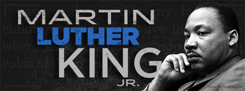 Martin Luyther King Jr. graphic and photo